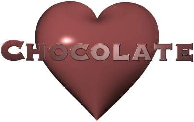 Chocolate Love Heart : Wombania's Gift Shop